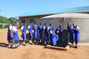 The Water Project:  Students Posing At The New Rain Tank