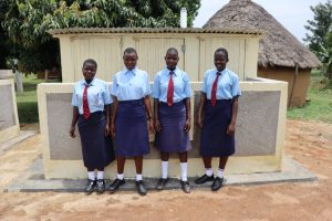 The Water Project:  Students At Completed Latrines