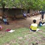 The Water Project: Masera Community, Ernest Mumbo Spring -  Community Members Attending Covid Sensitization Training