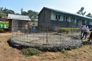 The Water Project:  Construction Of Foundation And Wall