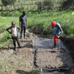 The Water Project: Mahira Community, Kusimba Spring -  Foundation Laying