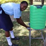 The Water Project: Friends School Vashele Secondary -  A Girl Using The Handwashing Station