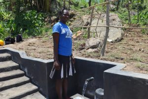 The Water Project:  Posing At The Completed Spring