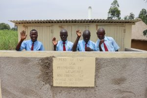 The Water Project:  Boys At Their New Latrines