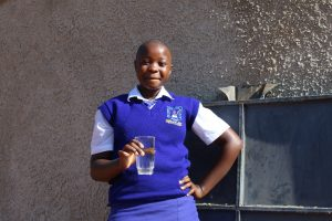The Water Project:  Student Aclein Happy For Clean Water