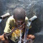 The Water Project: Mahira Community, Jairus Mwera Spring -  Obama Gets A Drink