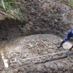 The Water Project: Mahira Community, Jairus Mwera Spring -  Foundation Measurements