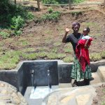 The Water Project: Mahira Community, Jairus Mwera Spring -  Mother And Daughter Say Thank You