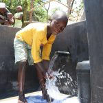 The Water Project: Mahira Community, Kusimba Spring -  Enjoying The Water