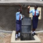 The Water Project: Friends School Vashele Secondary -  Students Celebrating At Finished Tank