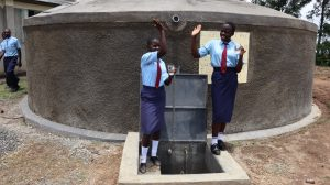 The Water Project:  Students Celebrating At Finished Tank