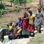 The Water Project: Mahira Community, Jairus Mwera Spring -  Community Members Posing At The Spring
