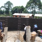 The Water Project: St. Teresa's Isanjiro Girls Secondary School -  Preparing Pillar Reinforcement
