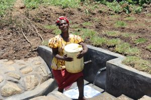 The Water Project:  Mounting Full Jerrycan On Head