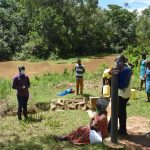 The Water Project: Lwenya Community, Warosi Spring -  Sir Erick Leading The Training