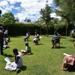 The Water Project: Musutsu Community, Mwashi Spring -  Sir Erick Leading The Session