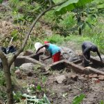 The Water Project: Mahira Community, Kusimba Spring -  Plaster Works On Spring Walls And Stairs