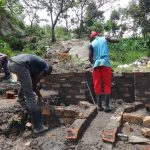 The Water Project: Mahira Community, Kusimba Spring -  Wall Construction
