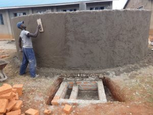 The Water Project:  Outside Tank Plaster
