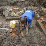 The Water Project: Mahira Community, Jairus Mwera Spring -  Stair Construction