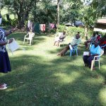 The Water Project: Shilakaya Community, Shanamwevo Spring -  Training On Importance And How To Wear A Mask