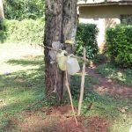 The Water Project: Shilakaya Community, Shanamwevo Spring -  Handwashing Point Made From Local Materials
