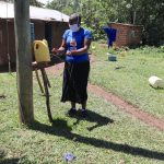 The Water Project: Muraka Community, Peter Itevete Spring -  An Insatlled Handwashing Leaky Tin In The Community
