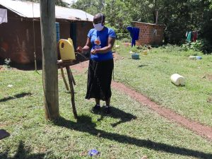The Water Project:  An Insatlled Handwashing Leaky Tin In The Community
