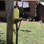 The Water Project: Muraka Community, Peter Itevete Spring -  An Installed Handwashing Leaky Tin