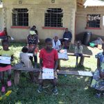 The Water Project: Muraka Community, Peter Itevete Spring -  Children Attending The Training