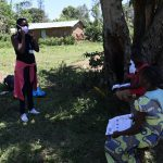 The Water Project: Muraka Community, Peter Itevete Spring -  Training On Proper Way Of Wearing A Mask