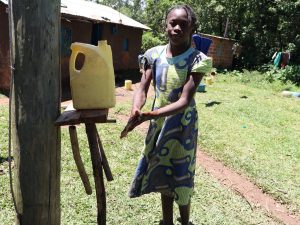 The Water Project:  Using A Homemadhandwashing Station
