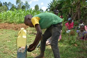 The Water Project:  A Gent Washing His Hands