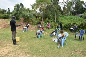 The Water Project:  The Facilitator Insisting On Social Distancing