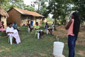 The Water Project:  Ms Patricia Leading The Handwashing Exercise