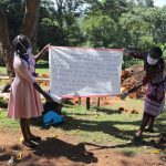The Water Project: Samisbei Community, Isaac Rutoh Spring -  A Sack With Written Covid Cautions