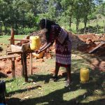 The Water Project: Samisbei Community, Isaac Rutoh Spring -  A New Handwashing Point
