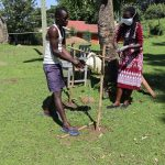 The Water Project: Samisbei Community, Isaac Rutoh Spring -  Handwashing With New Tippy Tap