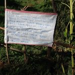 The Water Project: Koitabut Community, Henry Kichwen Spring -  Reminder Sack Chart Hanged At The Spring