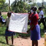 The Water Project: Bukhakunga Community, Khayati Spring -  A Sack With Written Covid Cautions