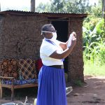 The Water Project: Bukhakunga Community, Khayati Spring -  Demonstration On Making Masks From Home