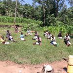 The Water Project: Bukhakunga Community, Khayati Spring -  Handwashing Demonstration