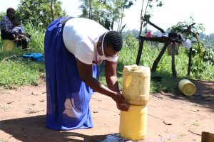 The Water Project:  Improvised Handwashing Point In The Community