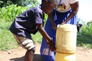 The Water Project:  Using An Improvised Handwashing Station In The Community