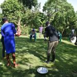 The Water Project: Mukoko Community, Mukoko Spring -  The Facilitator Leading The Handwashing Exercise