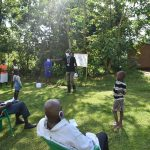 The Water Project: Mukoko Community, Mukoko Spring -  Trainer Erick Emphasizes Caution And Prevention