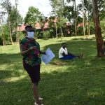 The Water Project: Sichinji Community, Makhatse Spring -  Ms Chelagat Leading The Training At Makhatse Spring