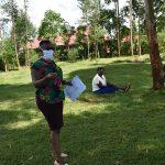 The Water Project: Sichinji Community, Makhatse Spring -  Ms Chelagat Leading The Training At Makhatse Spring