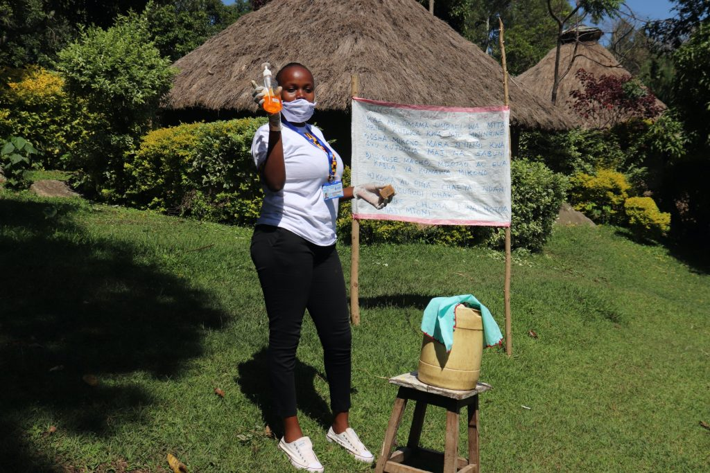 The Water Project : covid19-kenya19102-use-of-soap-is-important-in-breaking-down-the-virus