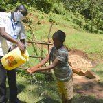 The Water Project: Wajumba Community, Wajumba Spring -  Handwashing Demonstration